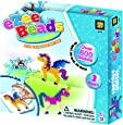 AMAV Toys Unicorn Water Fuse Beads Kit for Kid's Craft Art with 800 Beads, No Ironing, DIY Melting Beads Set, Pixel Beads Art Kit with Pegboards and Pattern Cards, Birthday Activity for Kids Aged 5+