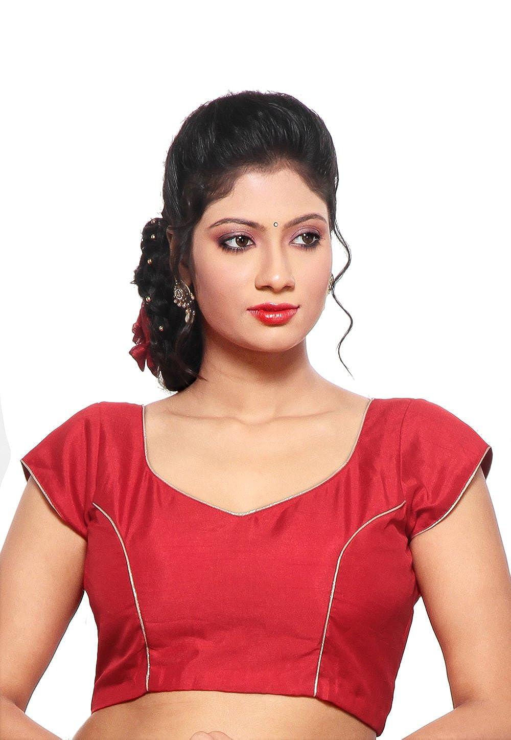 Utsav Fashion Art Raw Silk Blouse in Red