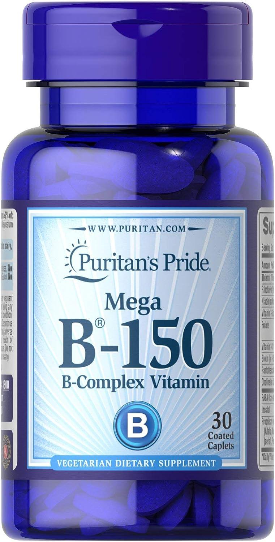 Puritan's Pride Vitamin B-150 Complex-30 Caplets