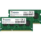 ADATA ノート用増設メモリ PC3L-12800 DDR3L-1600(512x8) 4GBx2枚組 1.35V 低電圧メモリ 204pin SO-DIMM 無期限保証 ADDS1600W4G11-2