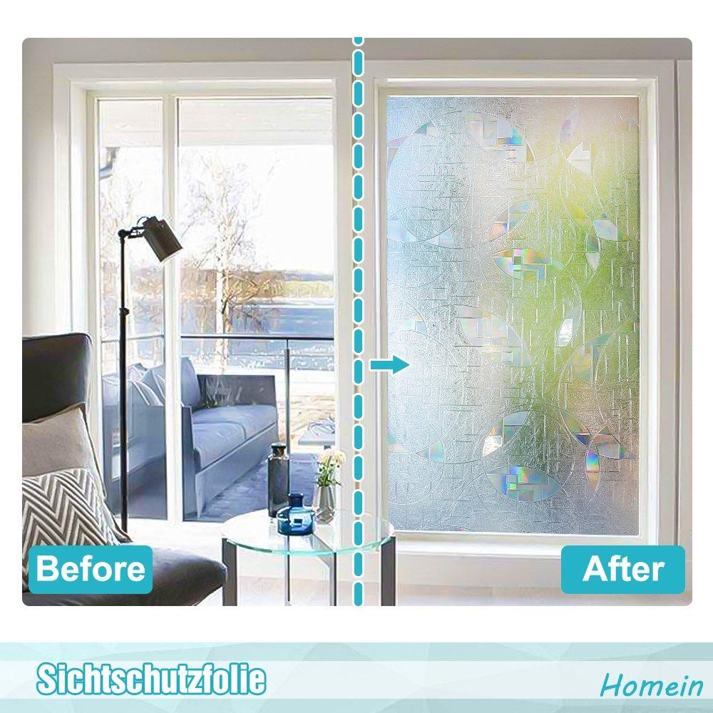 Homein 3D Fensterfolie Statisch Haftend Sichtschutzfolie