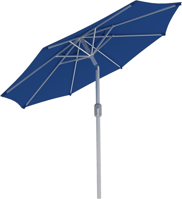 Rond//Blanc Anthracite paramondo Interpara Parasol| Parasol pour Jardin et Balcon| 3,5m // Armature