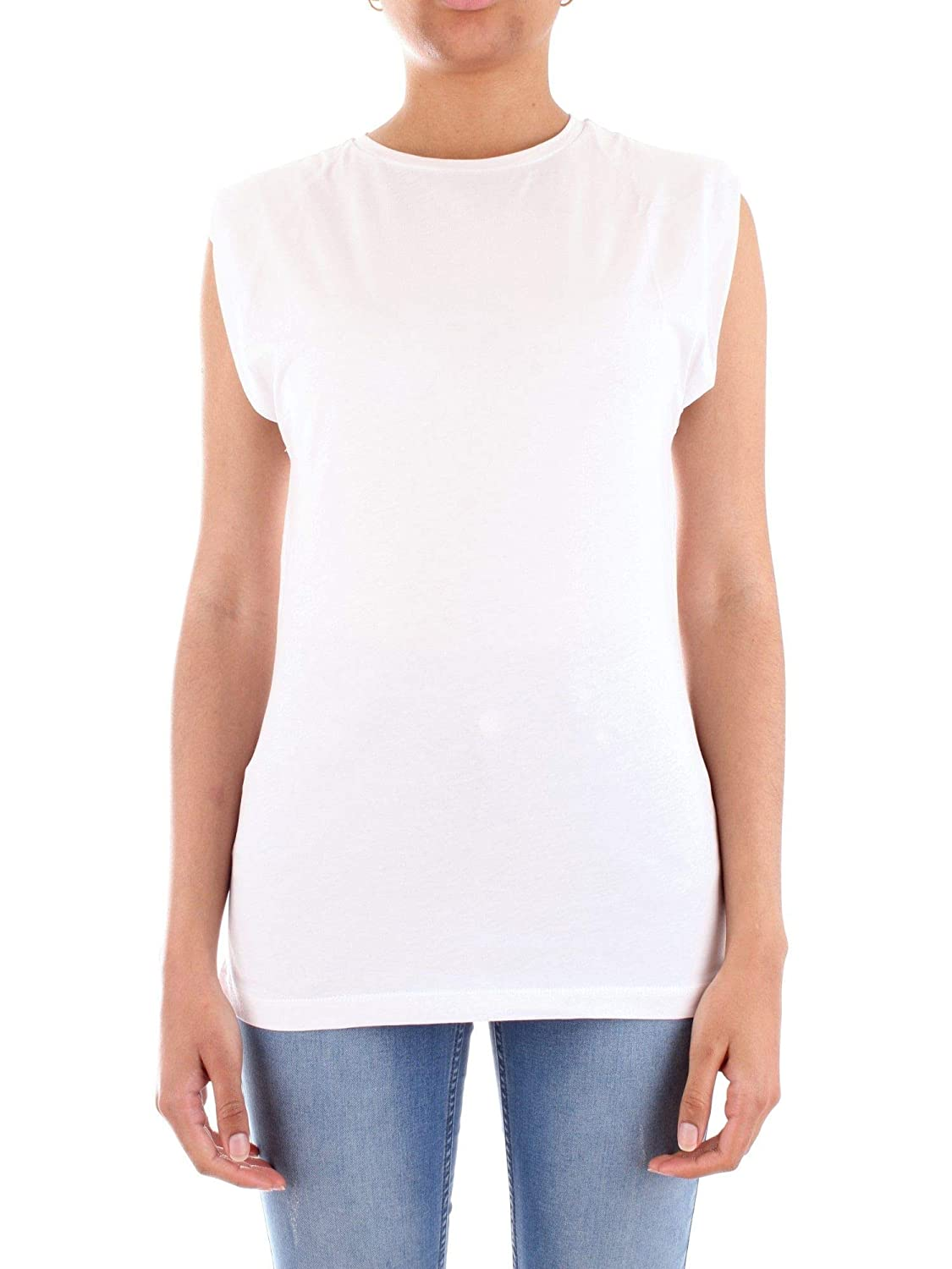 Silvian Heach Womens CVP19412TSBIANCO White Cotton T-Shirt