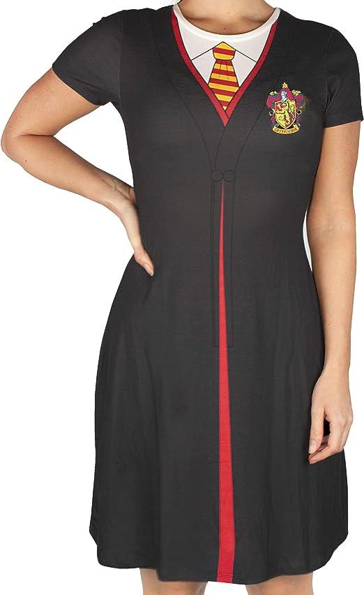 Harry Potter Gryffindor Capa Negro Disfraz Mujer Vestido Disfraz ...