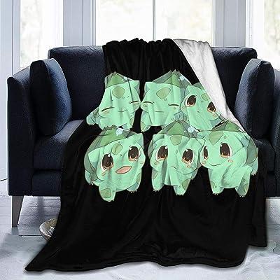 FXNOW Bulbasaurs Fleece Blanket Throw Child Plush Throw Blanket: Home & Kitchen