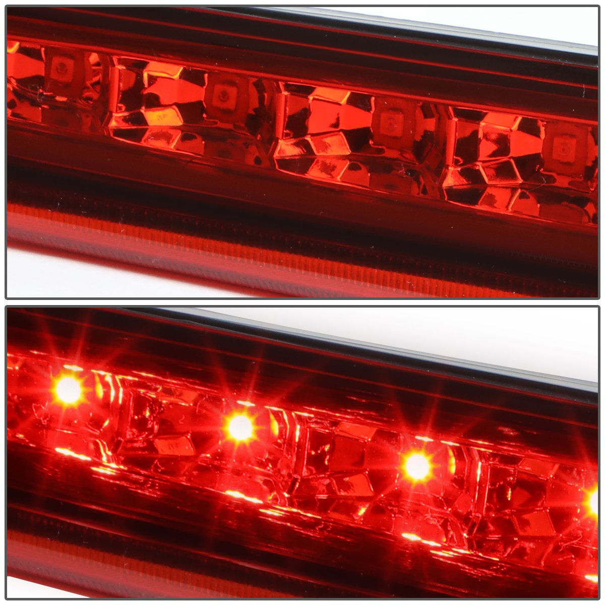 DNA Motoring Black 3BL-CMTY07-LED-BK-SM Smoke Lens LED 3rd Brake Light 07-14 Chevy Tahoe//Suburban