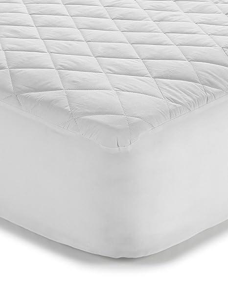 Classic Linen Colchón Antialérgico - de algodón poliéster acolchada 135 x 190 cm para alta colchones de hasta 33 cm altura: Amazon.es: Hogar