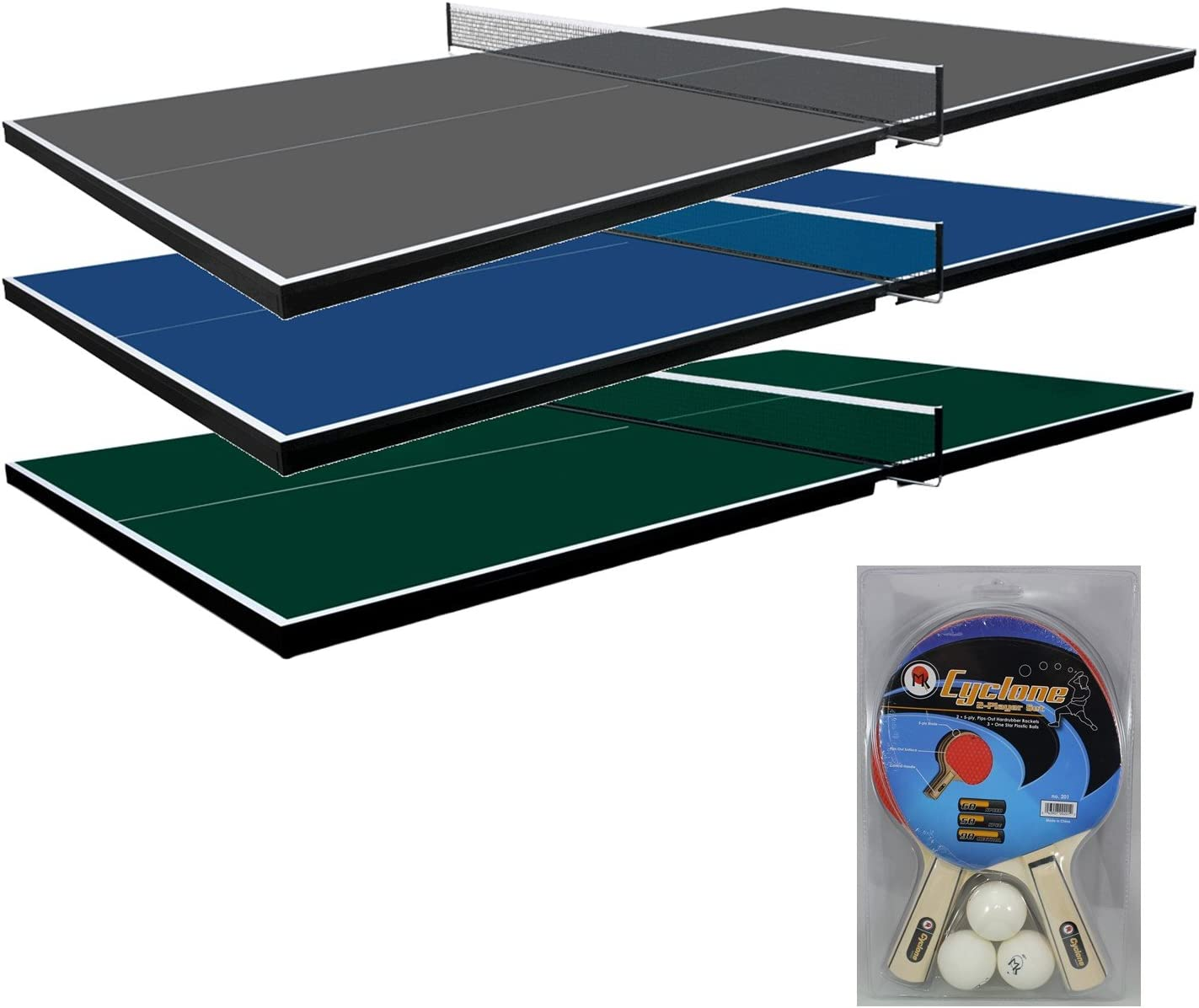 Martin Kilpatrick Ping Pong Table for Billiard Table Conversion Table Tennis Game Table Table Tennis Table w Warranty Conversion Top for Pool Table Games Table Top Games Ping Pong Table Top, Green