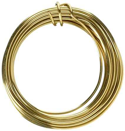 Amazon.com: WIRED ACCENTS Mzca-20 Floral Aluminum Wire Gold 12 Gauge ...