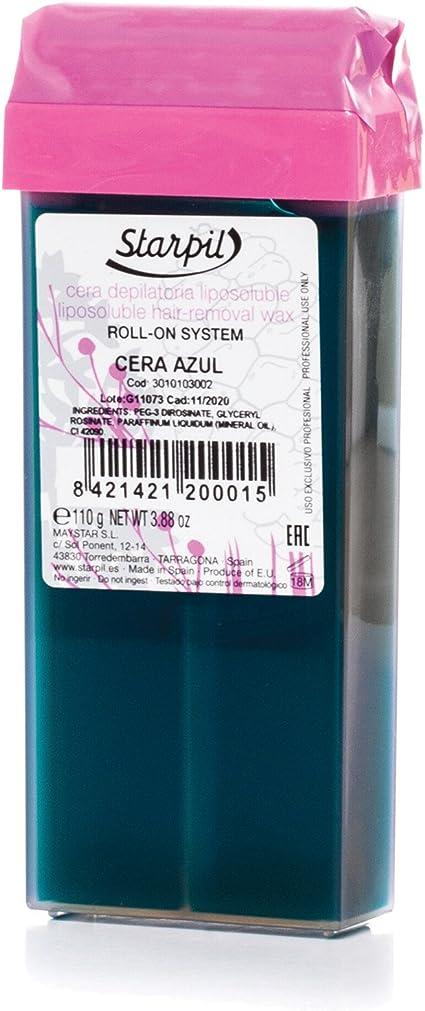 Amazon.com: Azulene Cartuchos de cera starpil Roll On 110 g ...