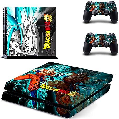 Dragon Ball Super Saiyan Sony Playstation 4 Consola Y 2 Accesorios De Controlador para Cubierta De Vinilo Etiqueta PS4 Etiqueta De La Piel: Amazon.es: Hogar