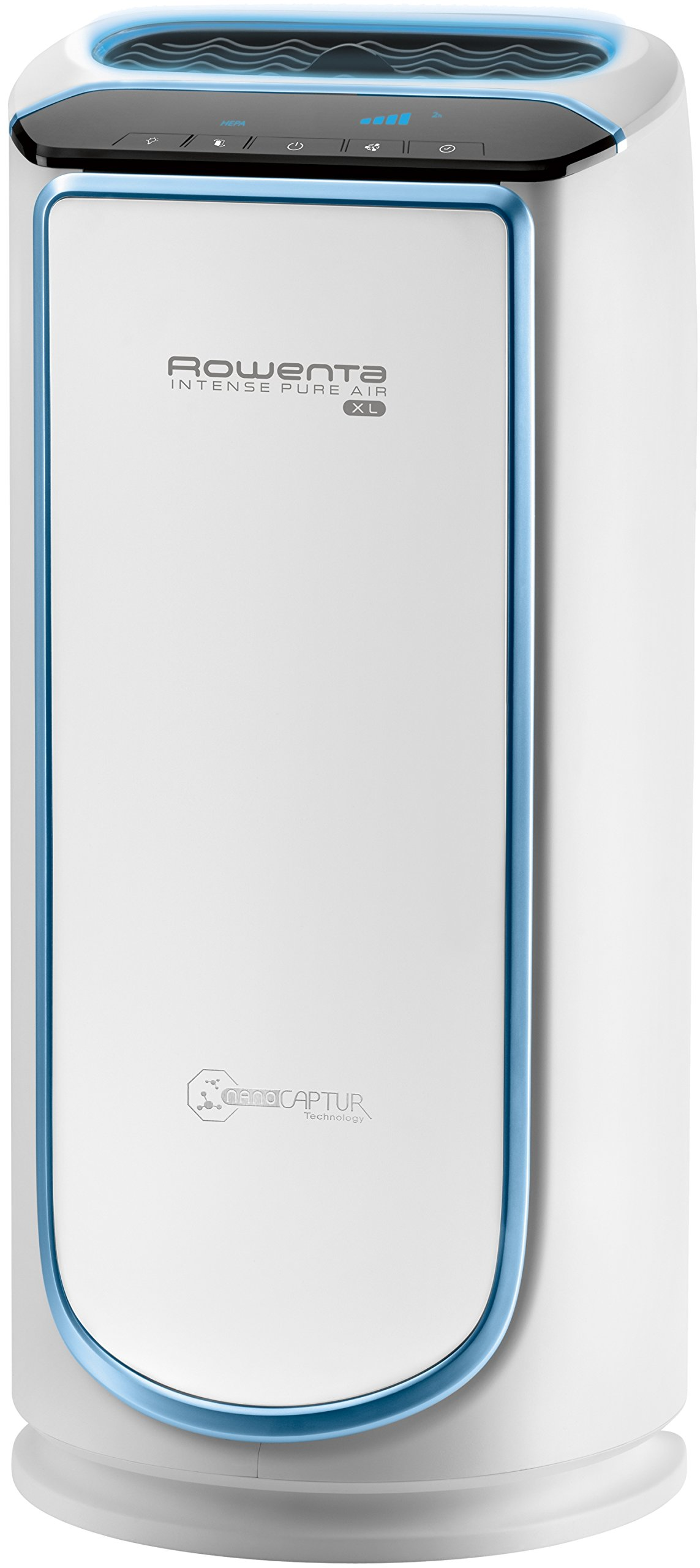 Rowenta PU6010 Intense Pure Air 800-Square Feet Air Purifier with 4-Filters Including HEPA Filter and Formaldehyde-Free Technology and Odor Eliminator, 29-Inch, White