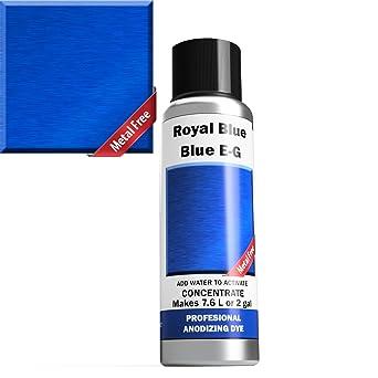 Anodizado profesional: tintes azules EG ~ azul claro a azul rico en polvo concentrado hace 7,6 litros o 2 galones