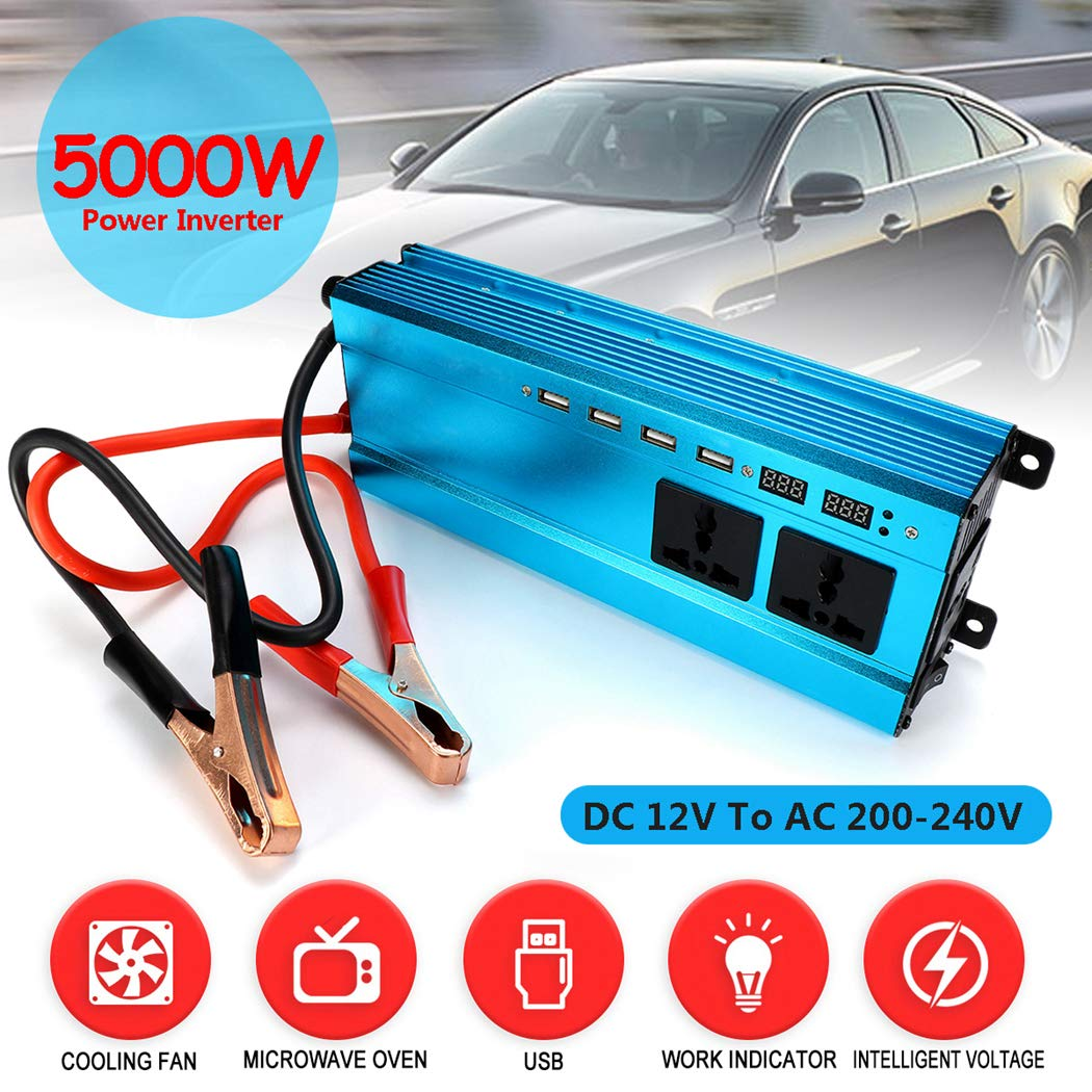 Fansport Auto Power Inverter 5000 Watt DC 12 V Zu 220 V Power Converter Spannungswandler
