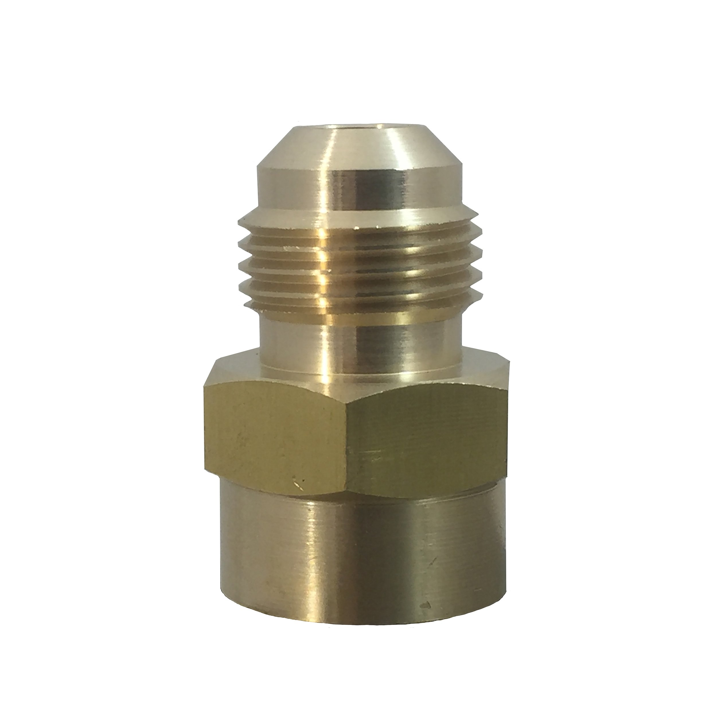 LASCO 17-5833 3//8-Inch Female Flare by 1//2-Inch Male Flare Brass Adapter