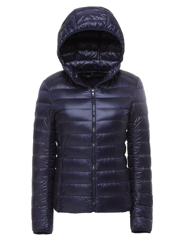 CHERRY CHICK Women's Ultralight Packable Winter Puffer Down Jacket with Hood 15100319P