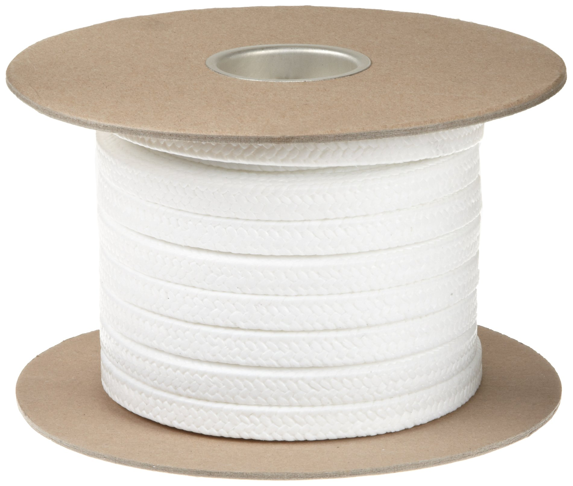 Palmetto 1367FS Series FDA Compliant PTFE Compression Packing Seal, White, 3/4'' Square, 25' Length