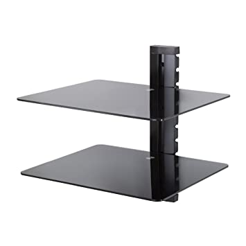 Glass Floating Shelves Amazing King Double Black Tempered Safety Glass Floating Shelf Amazoncouk