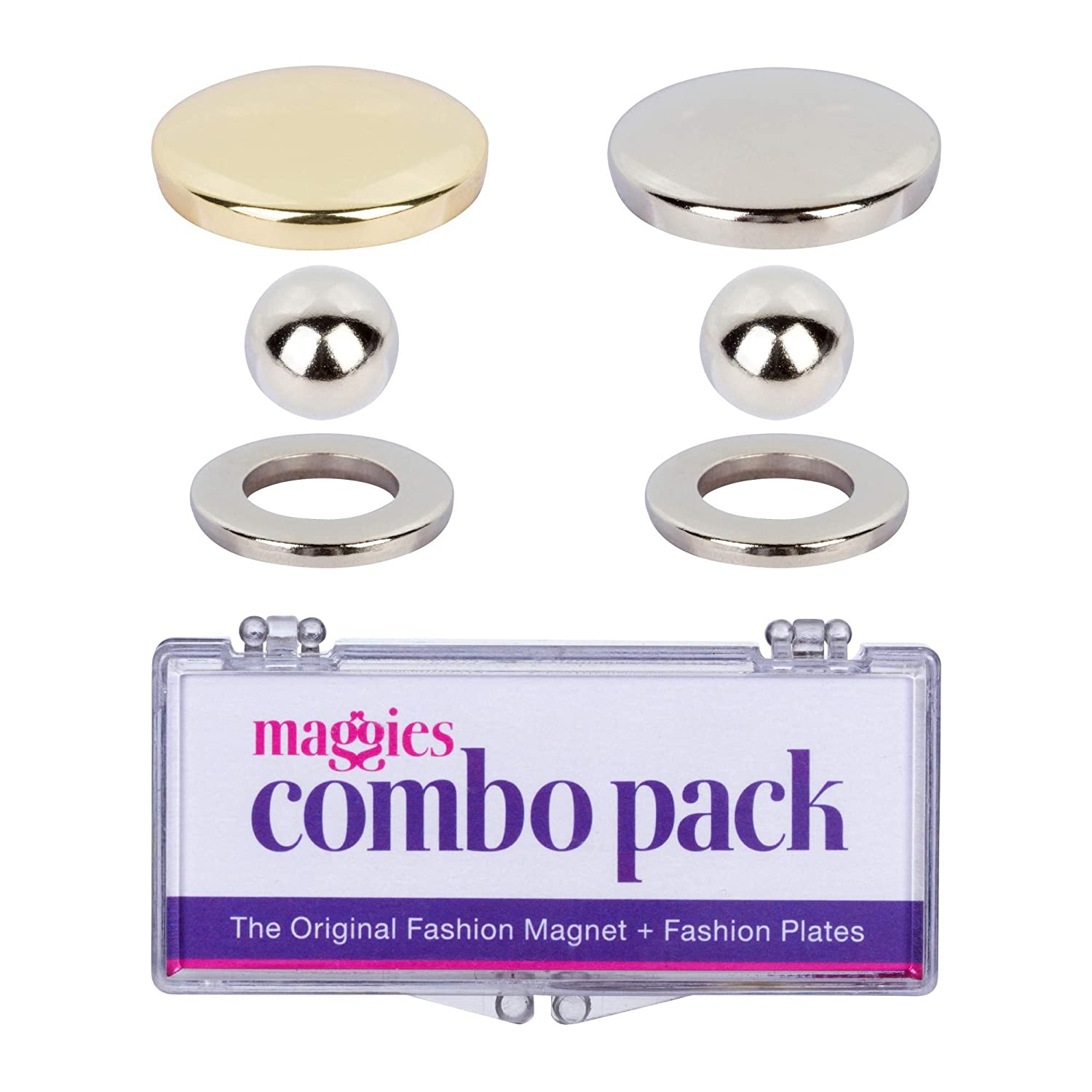 Maggie Snaps 4 Magnetic No Sew Snap Fasteners Alternative to Safety Pins Easily and Quickly Secure 2 or More Layers of Fabric