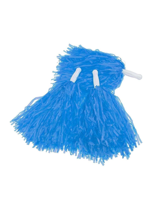 12 Pack Cheerleading Pom Poms Sports Dance Cheer Plastic Pom Pom for Sports Team Spirit Cheering (Blue) Erlvery DaMain