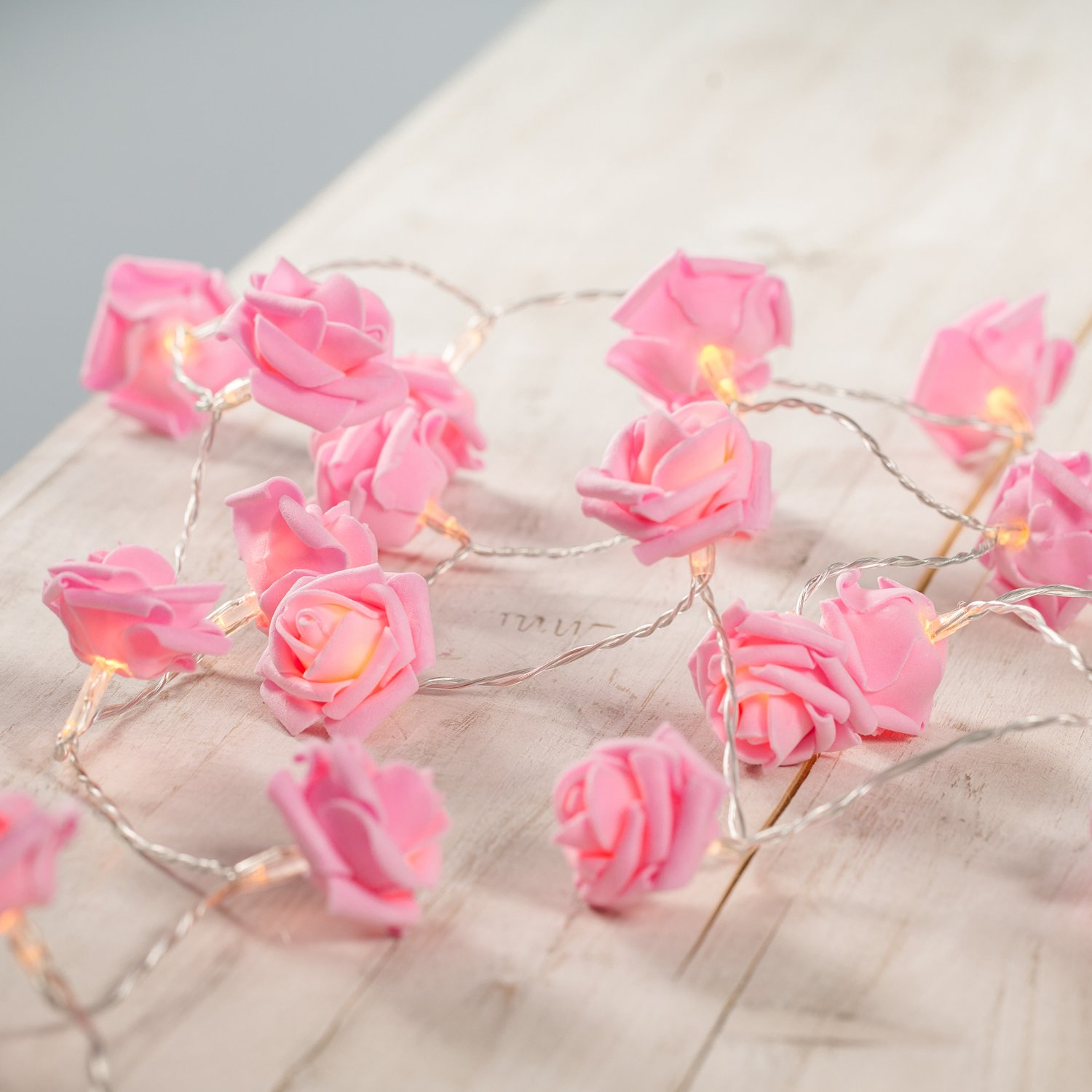30 LED Pink Rose Flower Indoor Fairy Lights by Lights4fun: Amazon.co.uk:  Kitchen u0026 Home