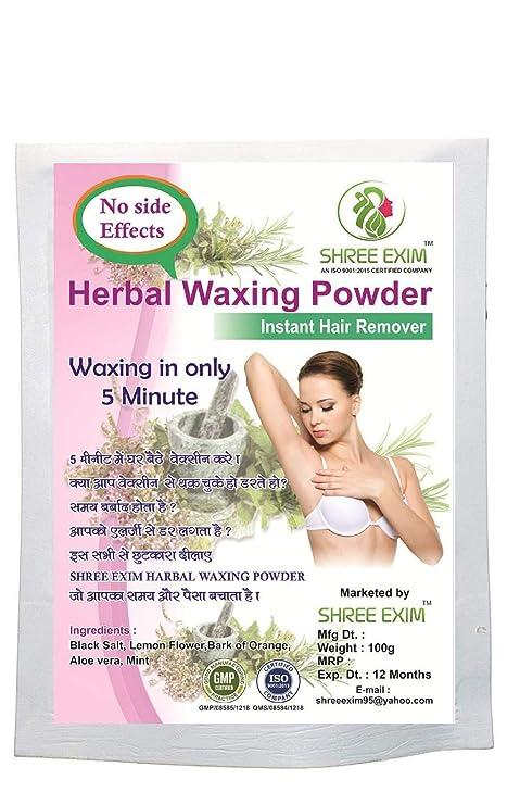 Buy Shree Exim Herbal Waxing Powder Instant Hair Remover 100 G