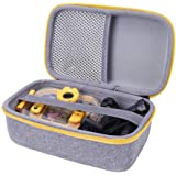 Aenllosi Hard Carrying Case for VTech Kidizoom Action Cam (Grey,Yellow Zipper)