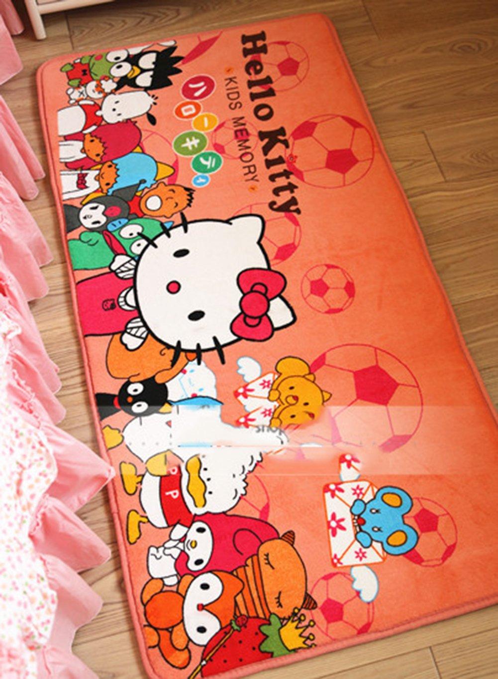 EKEA-Home® Cute Cartoon Hello Kitty Non-Slip Door Mats Soft Children Roon Bed Rug Blue S Faddist Spark Malls-CA