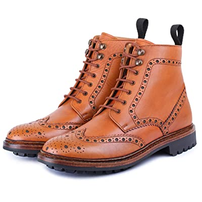 Lethato Men's Classic Handcrafted Leather Toe Cap Boots | Western