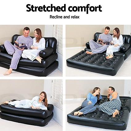 vetrineinrete® Sofá cama inflable cama individual y de ...