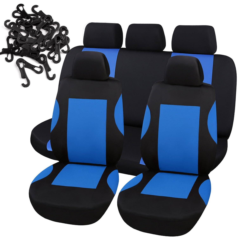Hamimelon protezione completa di colore blu coprisedili universali per auto