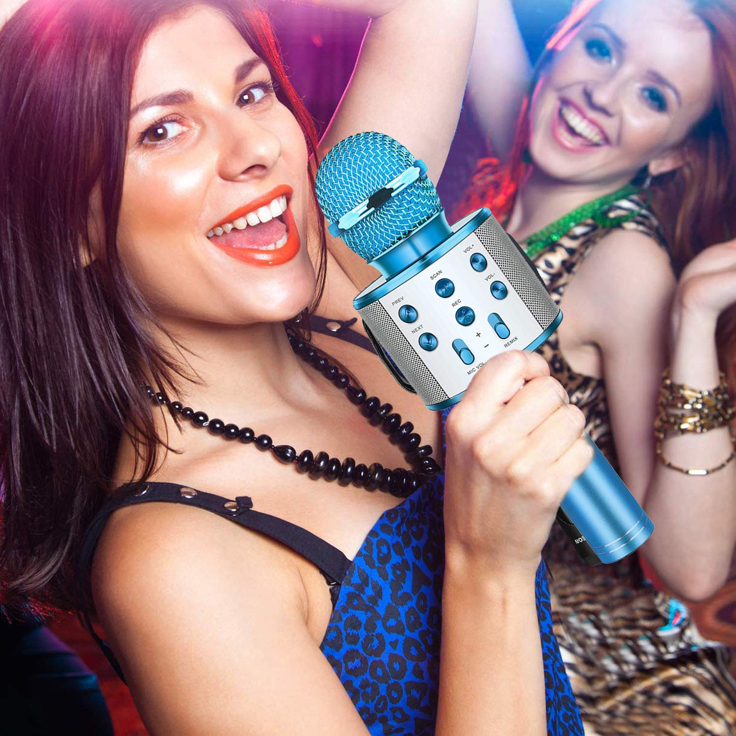 Fun Toys For 4-15 Year Old Girls,Niskite Handheld Karaoke Microphone For Kids Age 7-14,Birthday Gifts for 8 9 10 11 Years Old Boys Girls Blue by Niskite (Image #6)