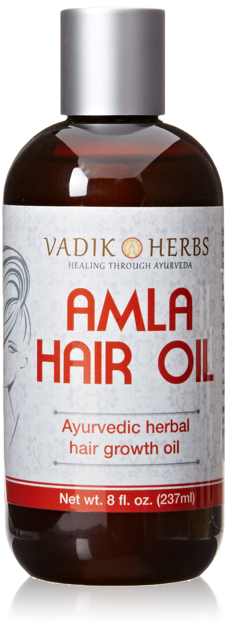 Amla Hair Oil (8 oz) by Vadik Herbs | Herbal hair growth oil | Herbal scalp treatment | Great for hair loss, balding, thinning of hair, for beard growth, made with Amla (Amalaki) - Indian gooseberry