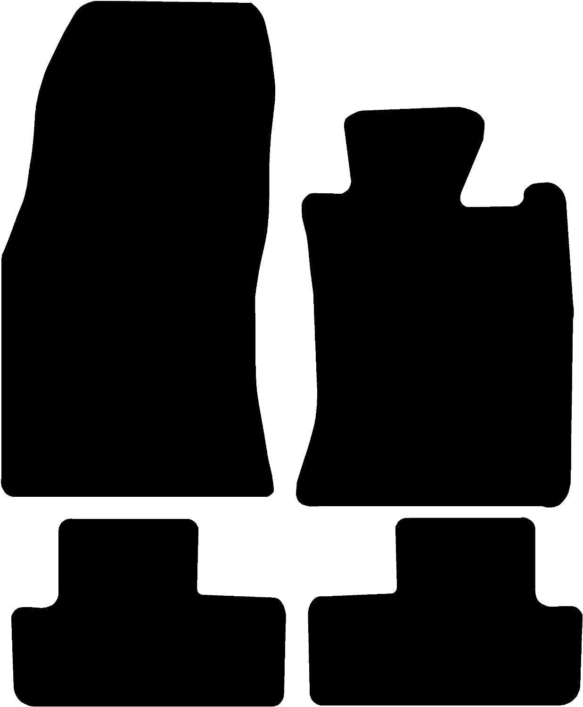 Connected Essentials CEM500 Cruze Station Wagon Car Mat Set Deluxe 2012- Black with Black Trim