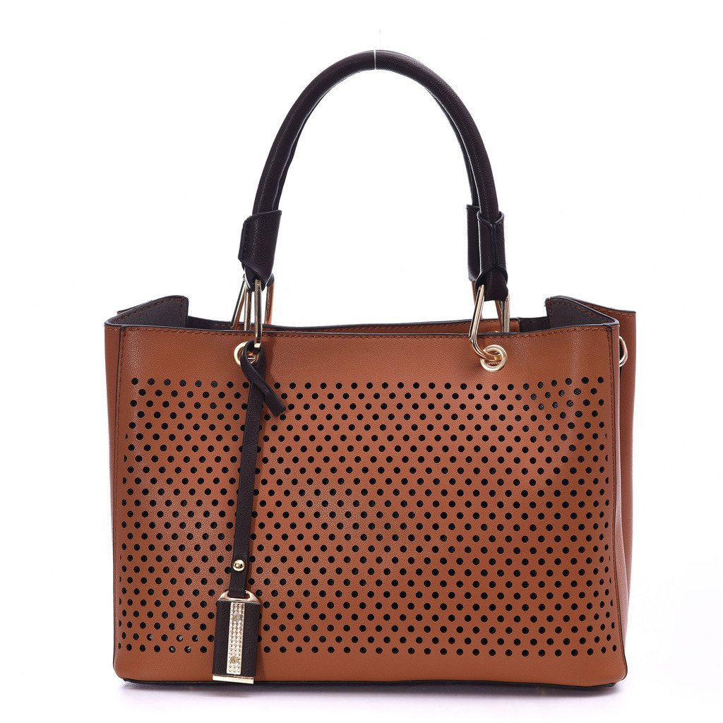 Leather Handbags for Women Artmis 2 pieces Top Handle Shoulder Crossbody Bag Set with Strap (Brown)