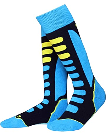defbd218 ANIMQUE Ski Socks Thermal for Adults and Children Unisex Enhanced Warmth  Moisture Absorption Sport Socks Knee