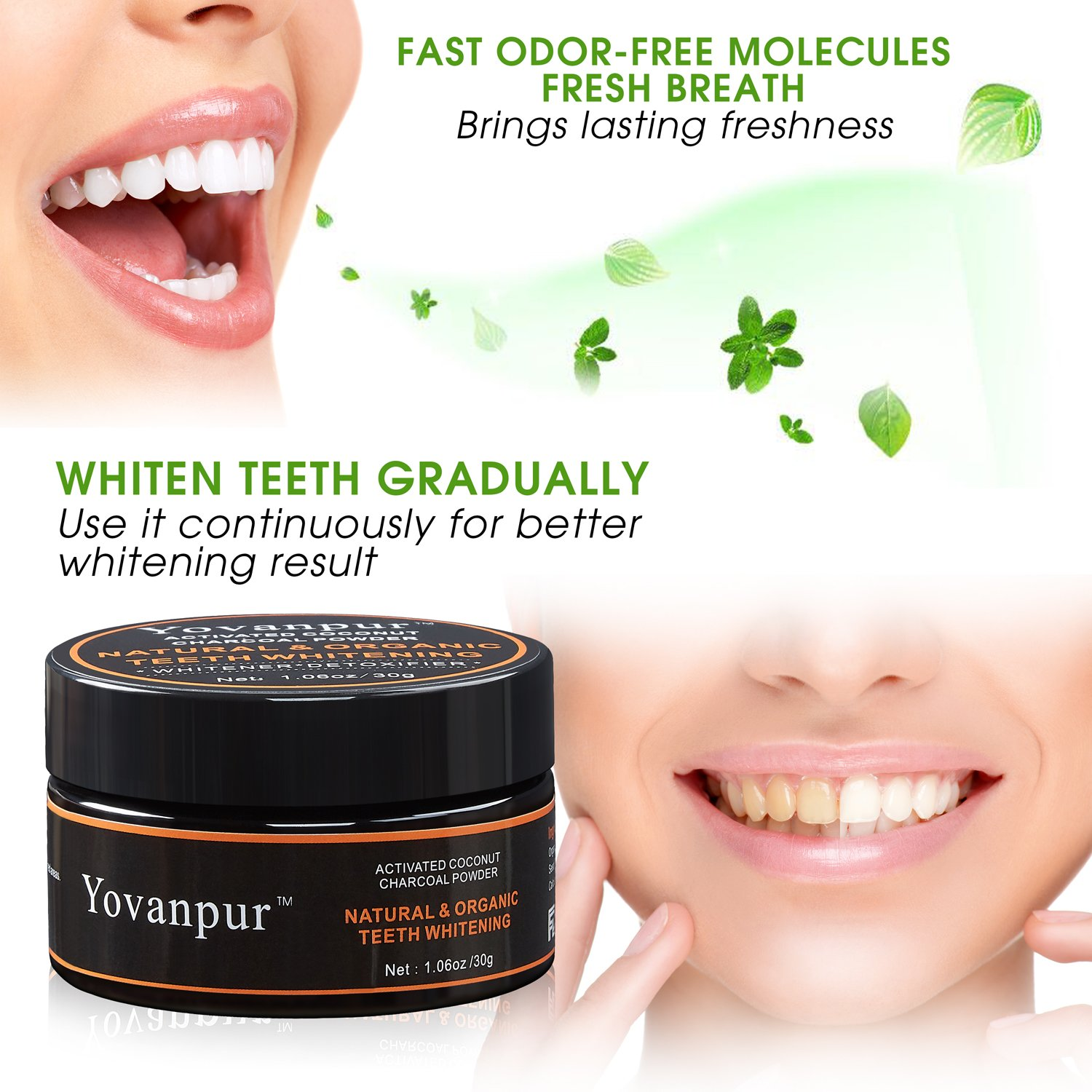 Amazon Com Teeth Whitening Yovanpur Activated Charcoal Teeth