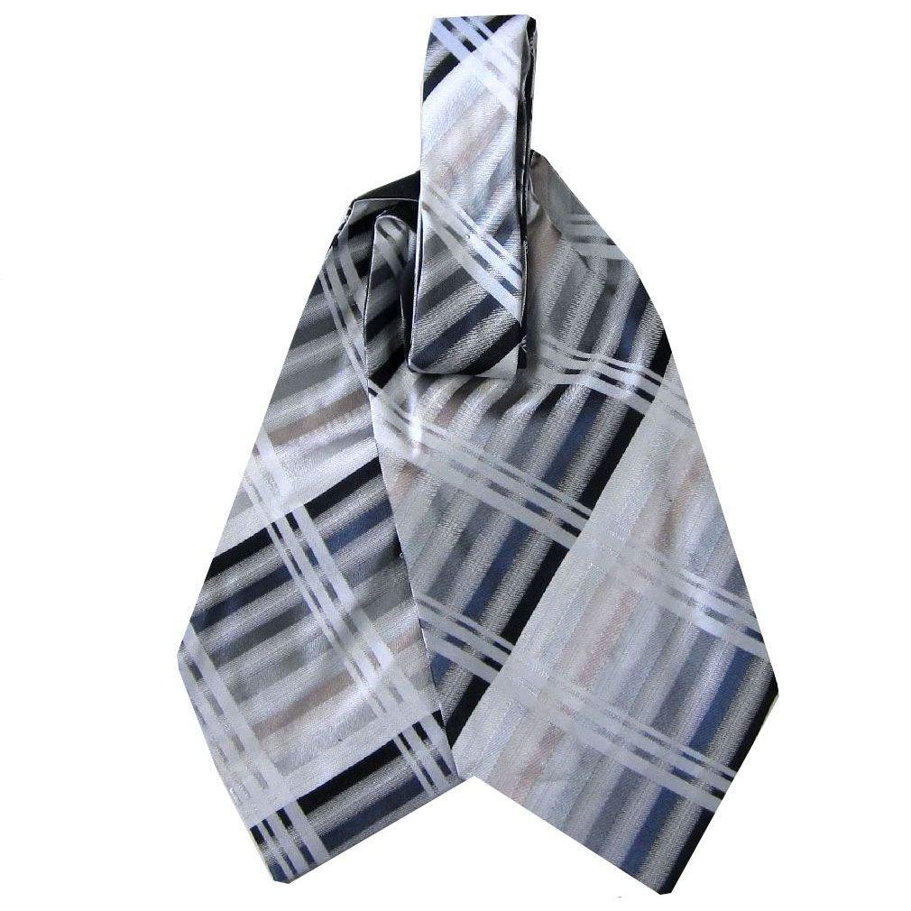 Silk Handmade Mens Ascot Pocket Square Set