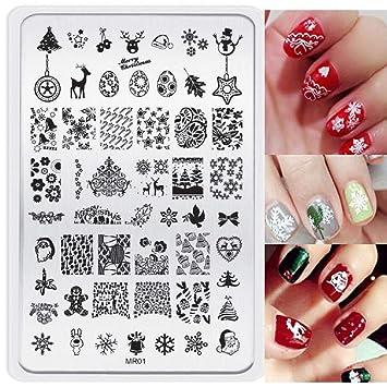 Malloom Navidad Imagen Diy Clavo Arte De Uñas Sello