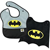 Bumkins DC Comics SuperBib with Cape / Baby Bib 6-24 Months, Waterproof, Washable, Stain and Odor Resistant - Batman