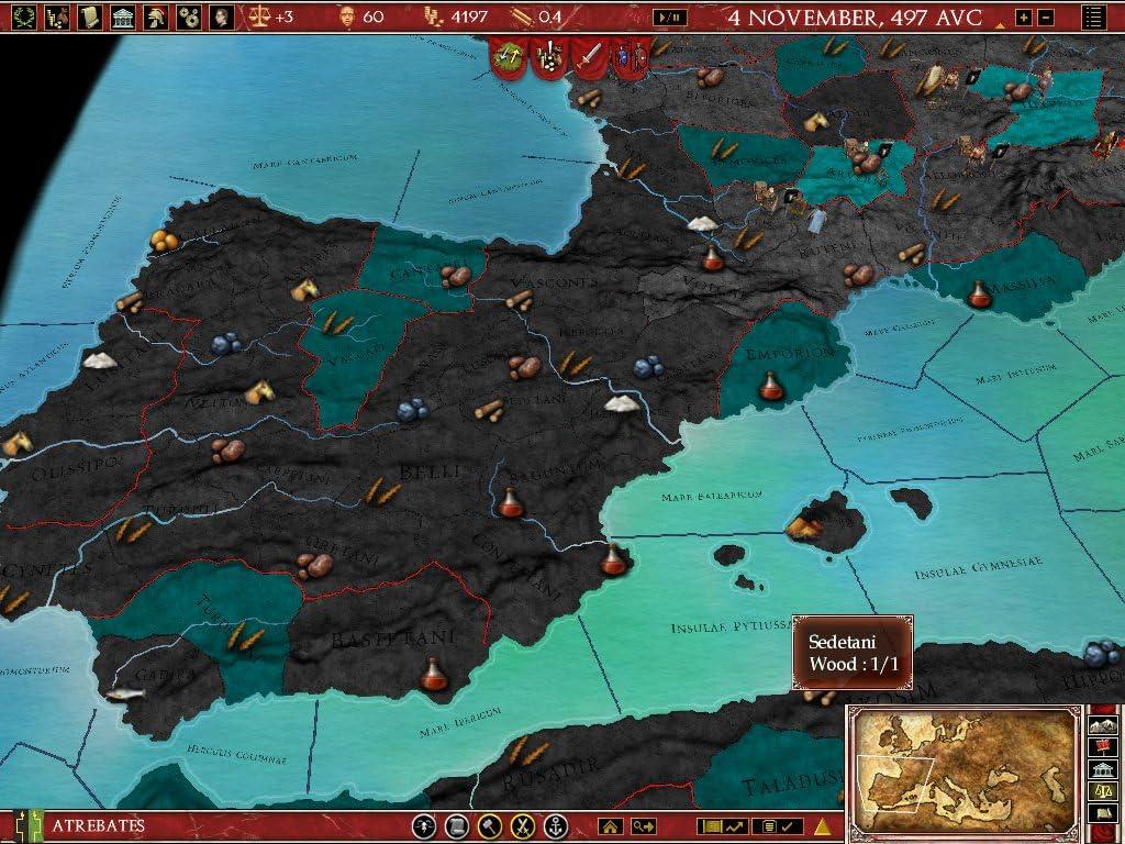 Amazoncom Europa Universalis Rome Gold Download Video Games - Eu rome map