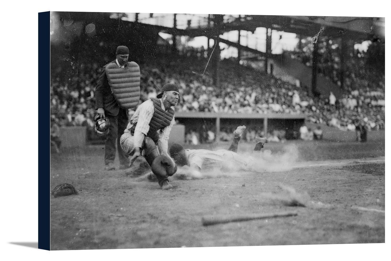 Lou Gehrigホームにスライディングプレート野球写真 36 x 24 Gallery Canvas LANT-3P-SC-2854-24x36 36 x 24 Gallery Canvas  B0184A494U