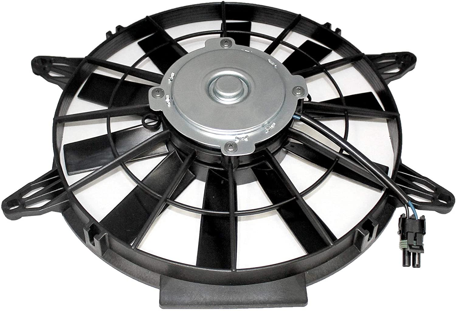 Caltric Radiator Cooling Fan Motor Compatible With Polaris Sportsman 500 HO EFI 2004 2005 2006 2007 2008 2009 2010 2011