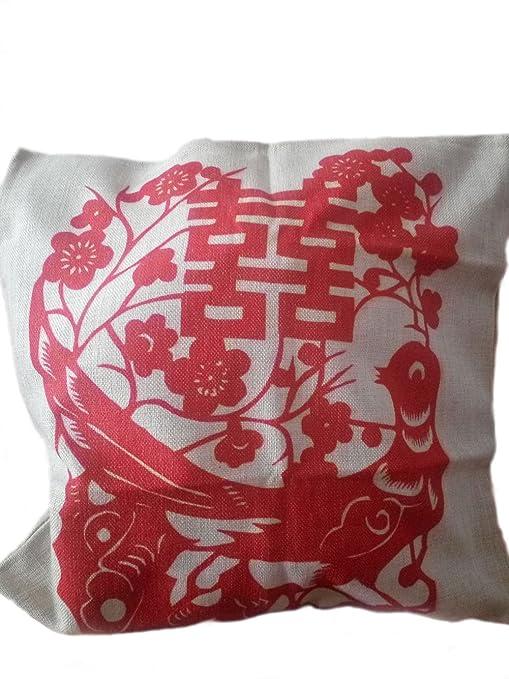 Manta de lino y algodón Durable cuadrado funda de almohada ...