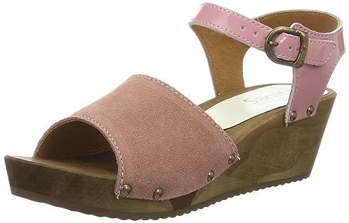 TG.36 Sanita Edel Wedge Flex Sandal Scarpe Col Tacco con Cinturino a T Donna