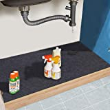 Under The Sink Mat,Cabinet Mat – Absorbent/Waterproof – Protects Cabinets, Premium Shelf Liner, Contains Liquids,Washable(24i