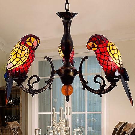 Amazon.com: Lámpara de techo LED estilo Tiffany con 3 ...