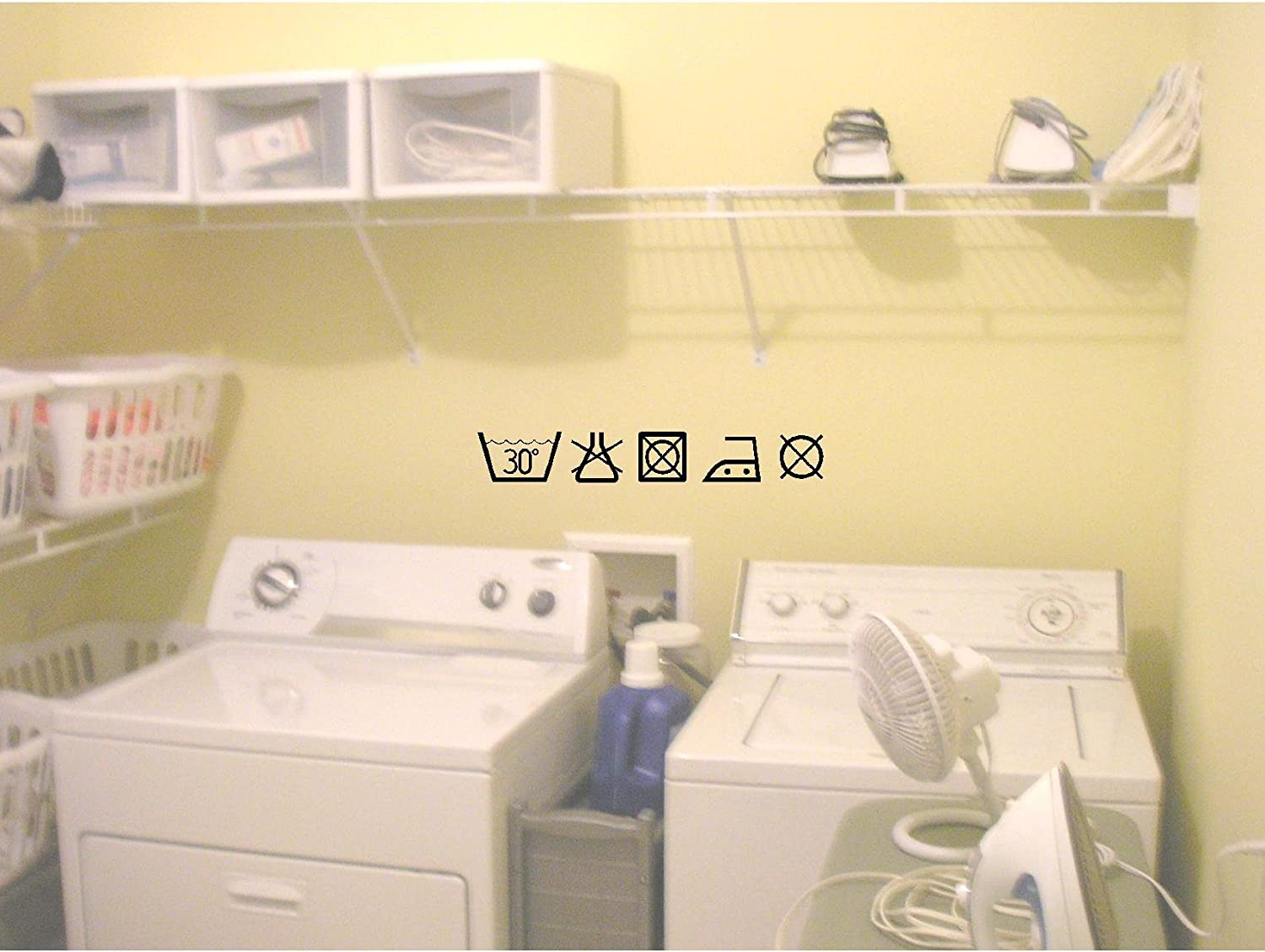 Amazon.com: Cute Laundry room SYMBOLS wall art wall sayings ...