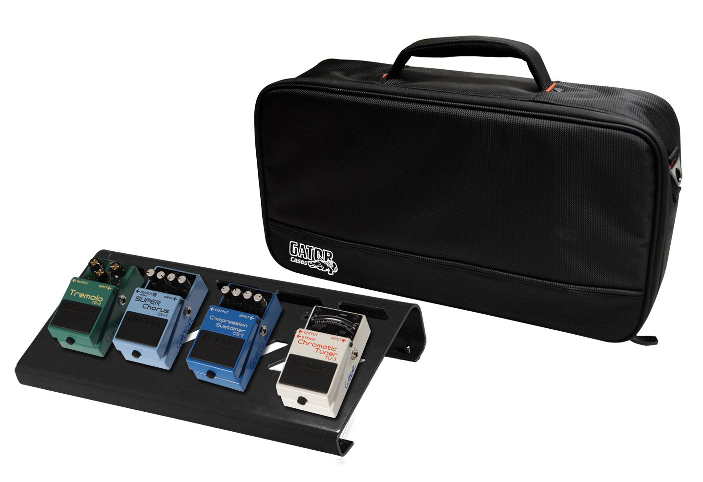 Gator Cases Aluminum Pedal Board with Carry Bag; Small: 15.75'' x 7'' | Stealth Black (GPB-LAK-1)