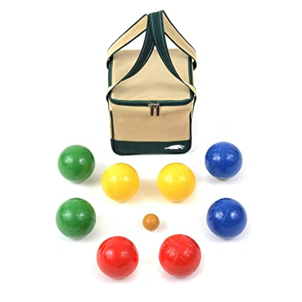 Amazon.com: Lion Sports 100 mm Backyard Resina Bocce Set en ...